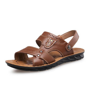 Men's Casual Leather Open Toe Sandals