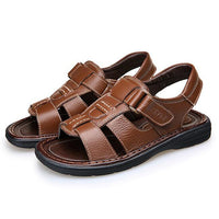 Men's Luxury Genuine Leather Cut-Out Sandals