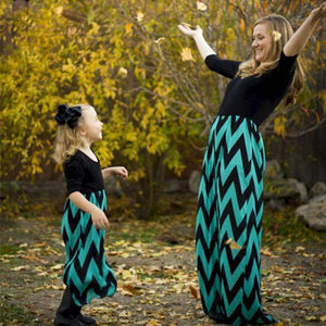 Mother/Daughter Matching Chevron Dresses
