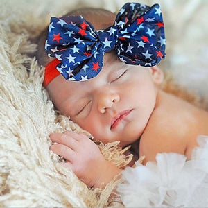 Red White & Blue Stars Baby Headband