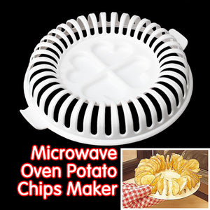 DIY Low Calories Microwave Oven Baked Potato Chips Grill Fat Free Potato Chips Maker Baking Pastry Tools Kitchen Accessories