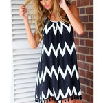 Women's Geometric Tassel Summer Dress