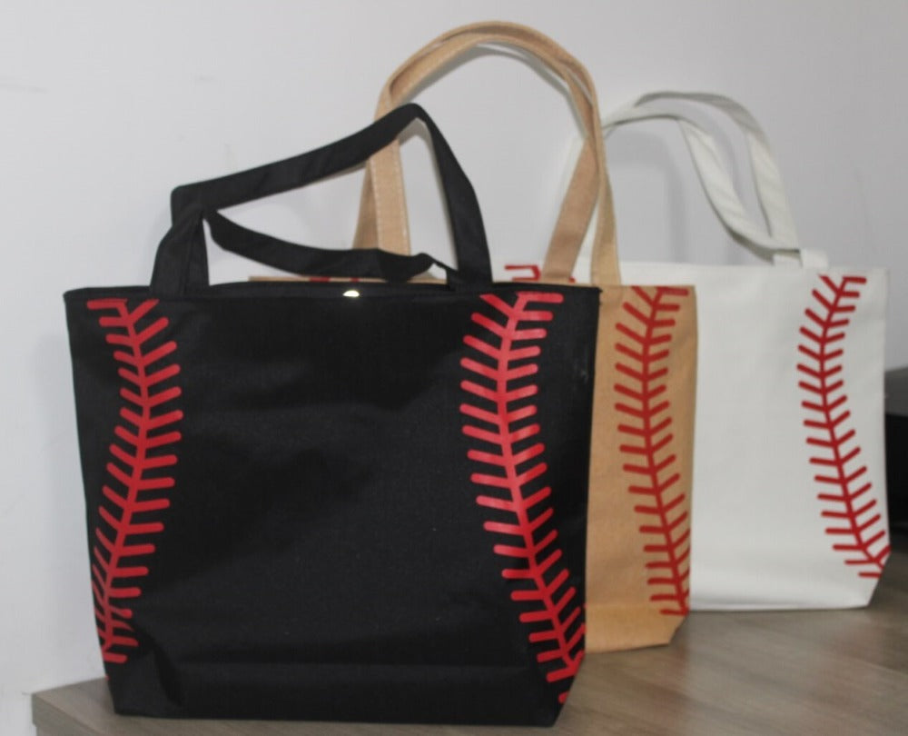Baseball Canvas Tote Bag (2 Color Options)