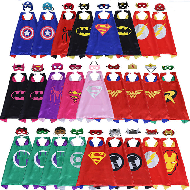 Superhero capes and mask for girls and boys