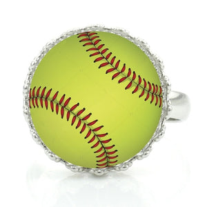 Adjustable Glass Dome Baseball Ring (17 Styles to Choose From)