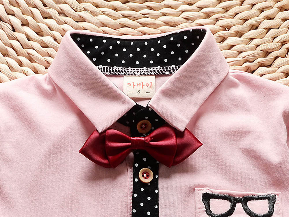 Baby Boy Glasses & Bow Tie Outfit