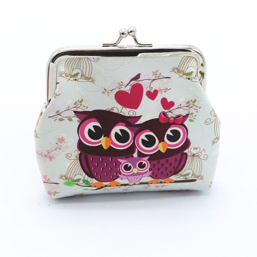 Loving Owl Family Coin Purse