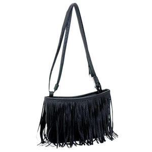 Tassle Flap Shoulder Bag