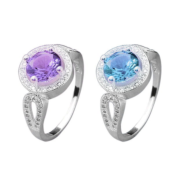 Blue/Purple Crystal Ring (Free Shipping)