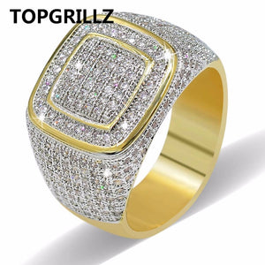 TOPGRILLZ Hip Hop Ring All Iced Out High Quality Micro Pave CZ Rings