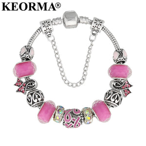 Keorma Cancer Charm Bracelet (9 Colors Available)