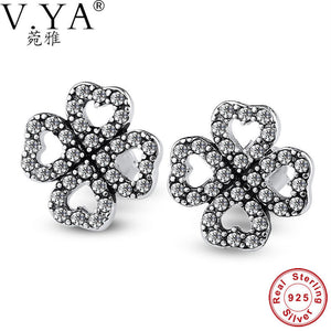 V.YA Sparkling 925 Sterling Silver Petals of Love,