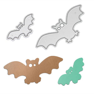 2Pcs Bat Cutting Die Stencils