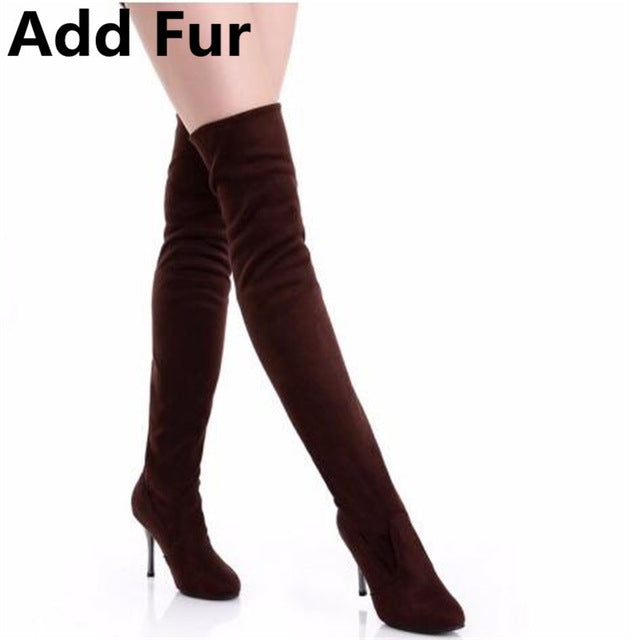 Over The Knee High Boots (3 Colors)