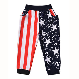 Boys Stars & Stripes Harem Pants (2T-10)