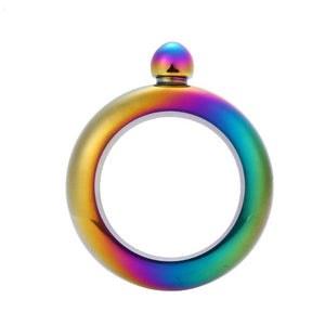 Bangle Bracelet Hip Flask Portable Round Chic Elegant  3.5 oz