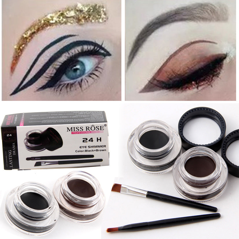 2PC Professional Eyeliner Gel 24H Long Lasting/Waterproof Set