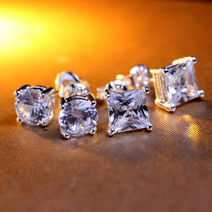 CZ Zircon Stud Earrings (Unisex)