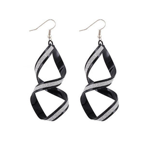 Alloy Matte Dangle Earrings