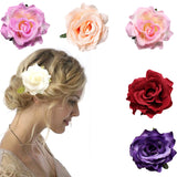 Bridal Large Rose Flower Hair Clip Hairpin  Wedding Bridesmaid Party Accessories 6 Color
