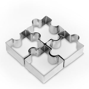 4Pcs Puzzle Shape Stainless Steel Cookie Cutters