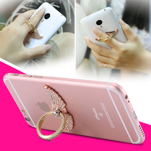 Cute Rhinestone Phone Ring Stand (Various Design Options)