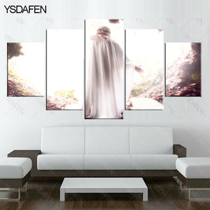 5 piece canvas art Christian Jesus resurrected painting HD Canvas Painting Wall Art Prints
