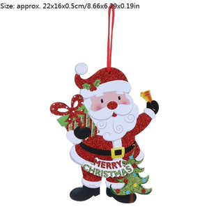 merry christmas 1pc snowman santa claus christmas tree hanging pendant ornament christmas decoration for home party