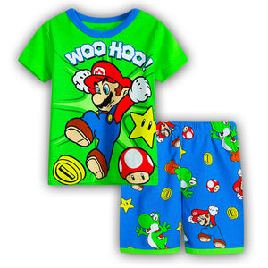 Kids Super Mario Short Sleeve+Shorts Pajamas