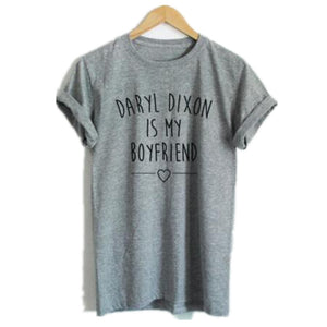 The walking dead Daryl Dixon is My Boyfriend Print T-Shirt
