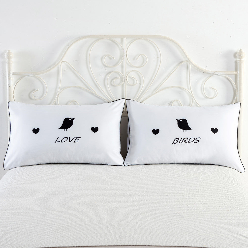 Set of 2 Couples Pillow Cases (Various Designs)