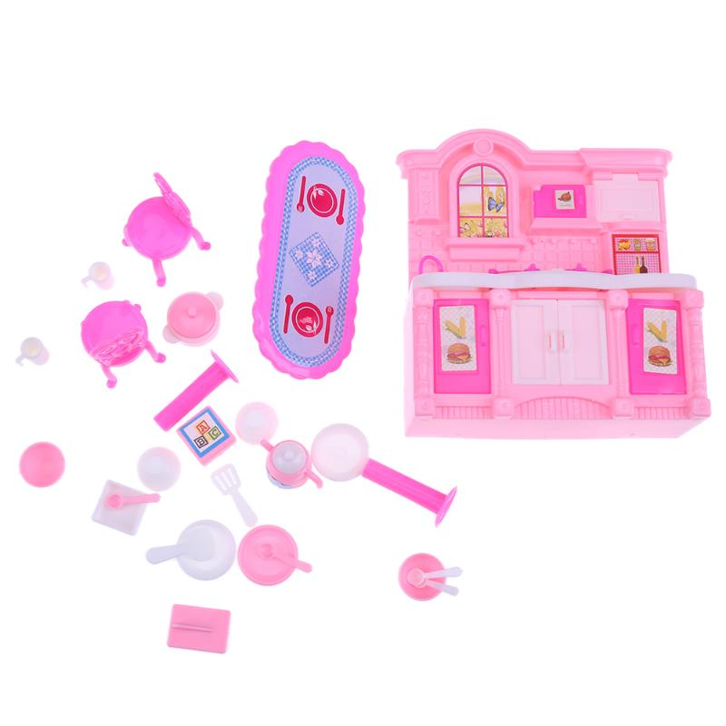 26Pcs Fashion Dolls Kitchen Set
