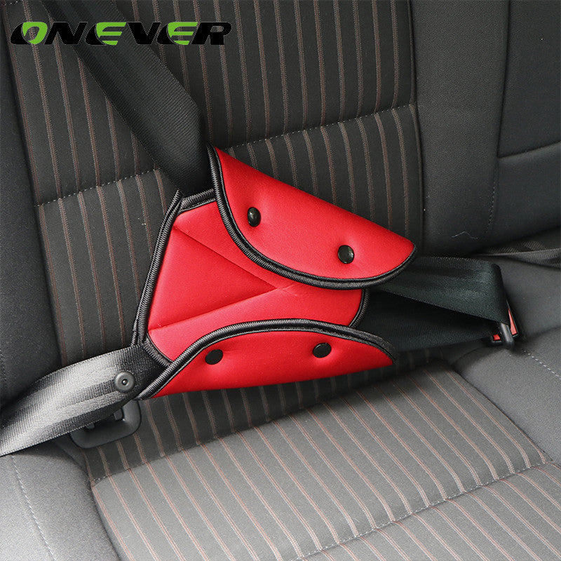 Onever Car Safe Fit Seat Belt Sturdy Adjuster Car Safety Belt Adjust Device Triangle Baby Child Protection Baby Safety For Baby