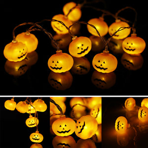 10 LED Pumpkins (String Lights)