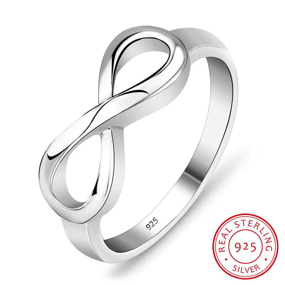 925 Sterling Silver Infinity Ring Eternity Ring