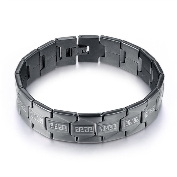 Black Stainless Steel Tribal Bracelet