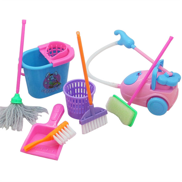 Pretend Mini Play 9 Piece Cleaning Set