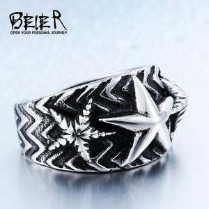 Stainless Steel Pentacle Ring