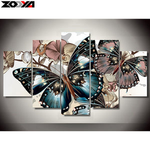 ZOOYA  Diamond embroidery colorful butterfly diamond painting Cross Stitch full drill Rhinestone mosaic Multi-picture canvas