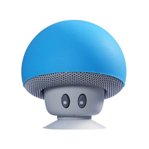 Portable Wireless Mushroom Bluetooth Speakers with Built-in Mic and Suction Cup