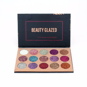 15 Colors Pressed Glitter Eyeshadow Palette  (Also available in 4 color palettes)