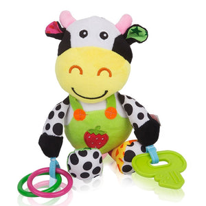 Baby Cow Plush Carseat Toy