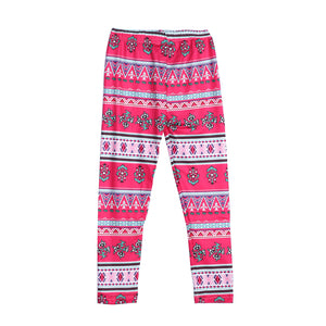 Family Matching Bohemian Flower Cotton Leggings