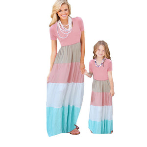 Mother/Daughter Matching Striped Dresses