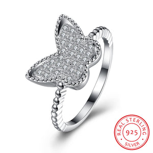 Butterfly Stone Ring (925 Sterling Silver)