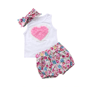 Adorable Floral 3pc Outfit