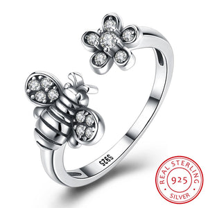 925 Sterling Silver humble bee Ring