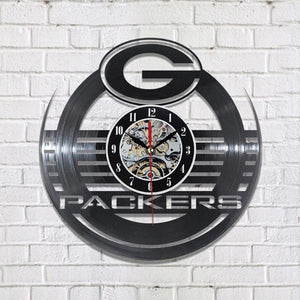 Packers Vinyl LED Wall Clock (With or Without 7 Color Changing LED Lights)