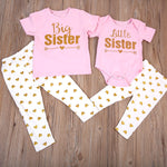 Pink & Gold Big Sister/Little Sister Outfit