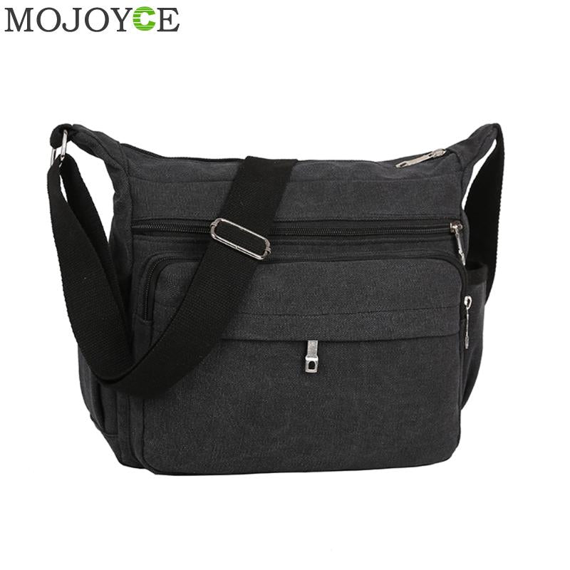Men's Solid Casual Messenger Bag